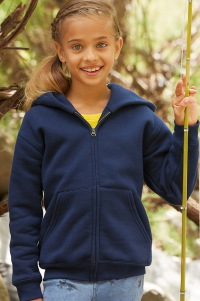 KIDS ZIP THROUGH HOODED SWEAT